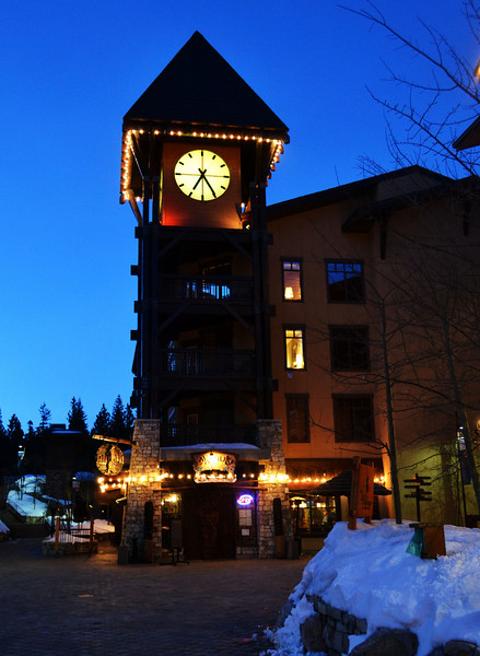 Clock Tower at the Village in Mammoth Lakes California 2