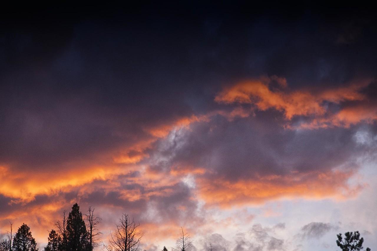 Jasper, Alberta Sunset Clouds