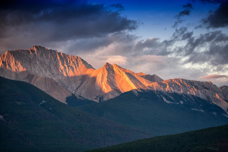 Jasper, Alberta Sunset Mountains