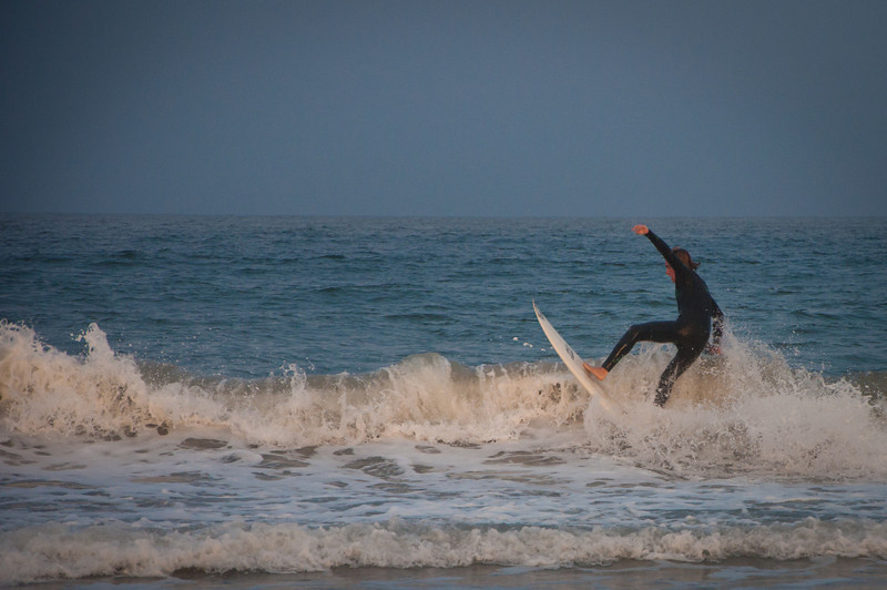 There were a few surfers who showed up. The waves weren't all that big, but it was fun to watch and get some photos.