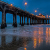 This photo is just before sunrise at Manhattan Beach.
