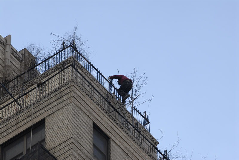See EXIF DATA for details<br /> Worker High on Ladder West 23rd Street