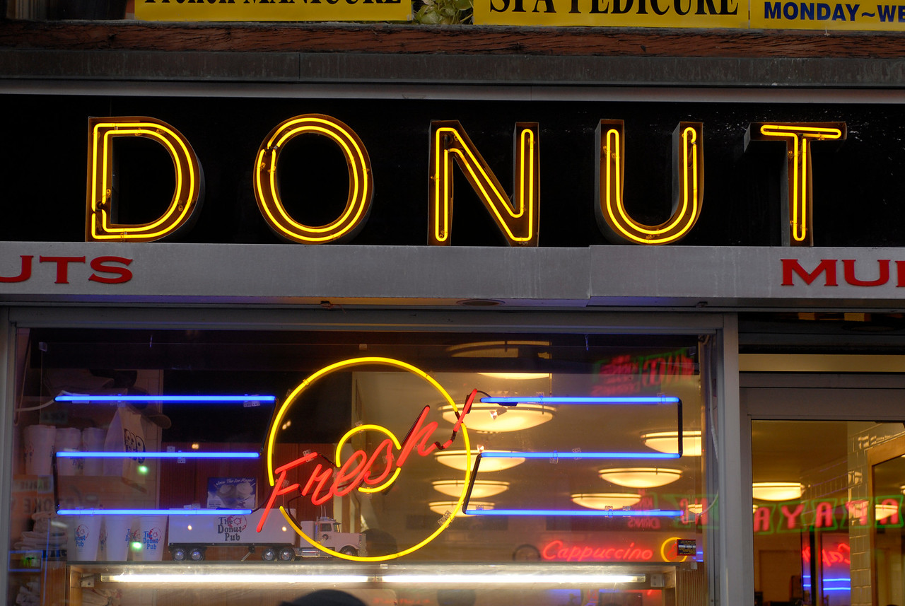 See EXIF DATA for details<br /> The donut Pub on West 14th Street