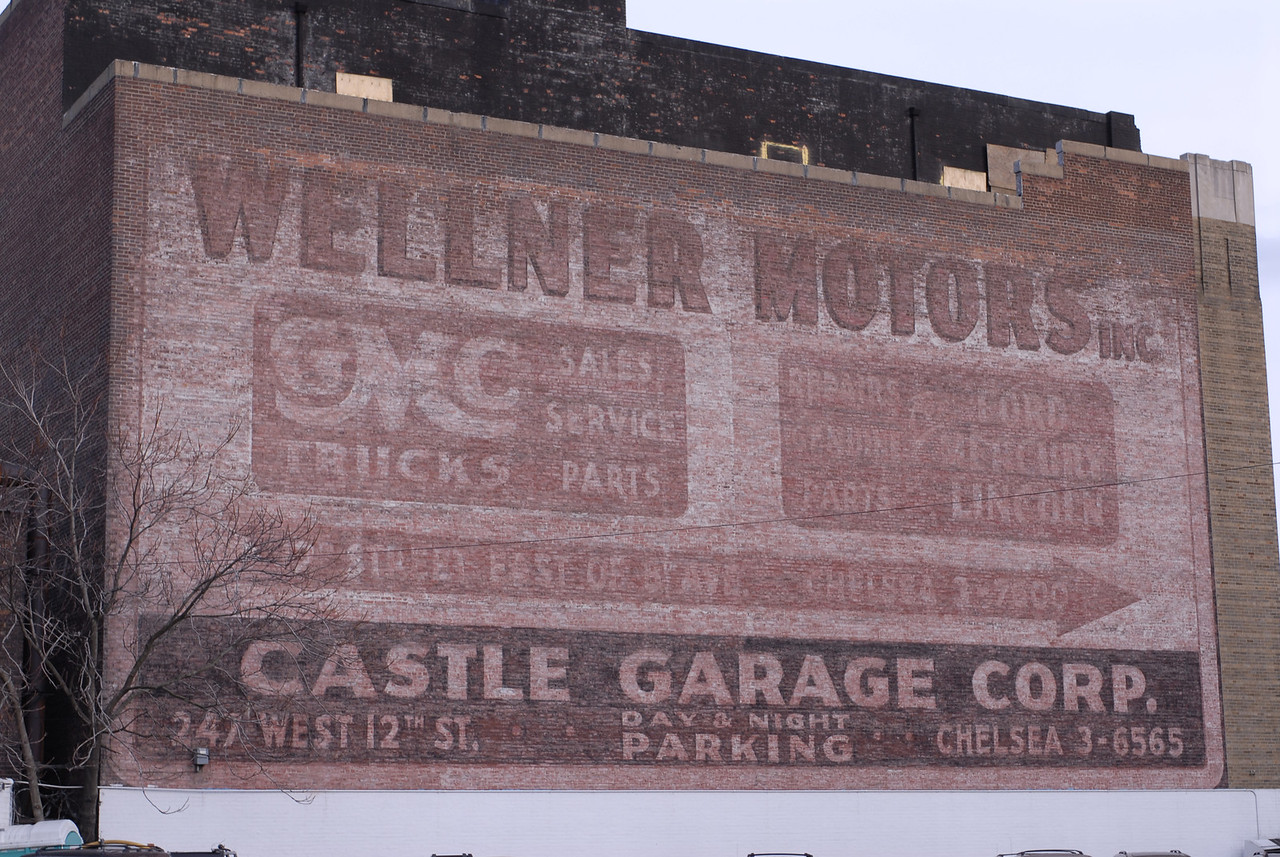 See EXIF Data for Info<br /> Old GMC Sign Manhattan<br /> Camera original JPG<br /> Compare to next image for comparison of unmodified to modified images.