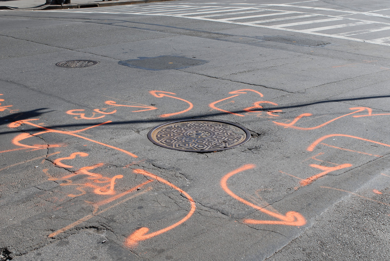 See EXIF DATA for details<br /> Painted Street and Manhole