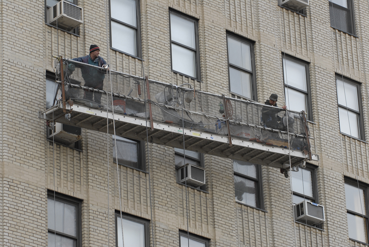 See EXIF DATA for details<br /> Workers on Scaffold<br /> 300 W23rd