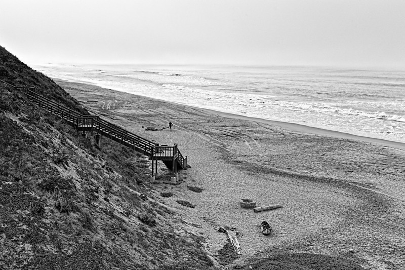 Stairway to the beach.