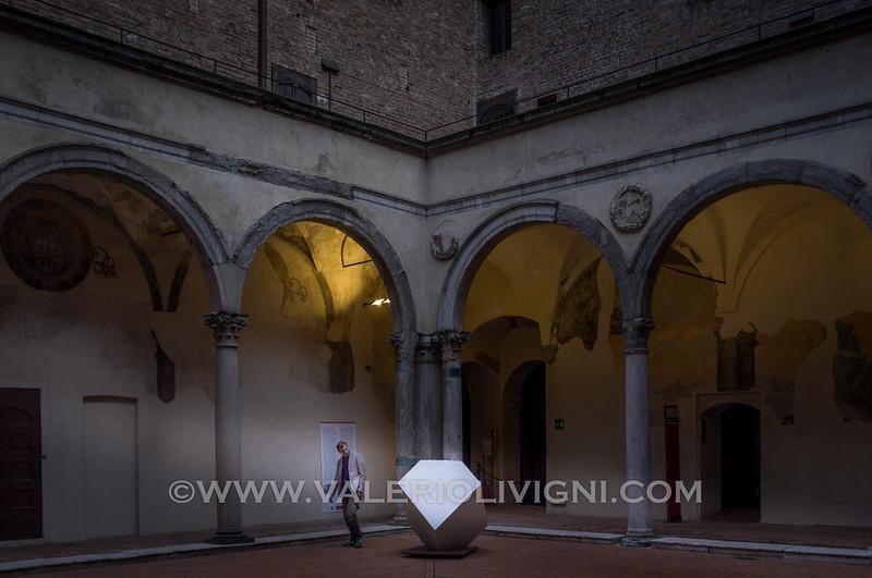 Castello di San Giorgio - Mantova (IT)<br /> In centro una riproduzione del romboedro di Albrecht Dürer da Melancholia I<br /> St. George castle - Mantova (IT)<br /> In the middle a Albrecht Dürer's Prism dfrom  Melancholia I
