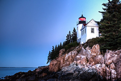 Fred Haaser, Bass Harbor Lighthouse at Dawn, color inkjet print, 11x14 on canvas, $150, Pack489@yahoo.com, 513-389-6463
