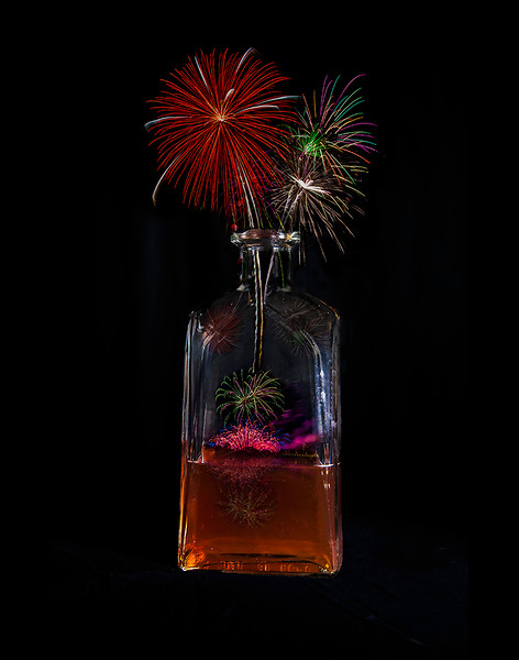Pam DeCamp; Bottle Rockets; Digitally Enhanced Photography on unstretched canvas; 13x9; $150; pdcpics1982@yahoo.com; (740) 981-2207
