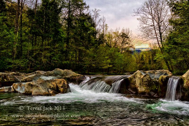 Teresa Jack, Smokey Mountain Waterfall, photography, 16x20 Canvas, $155.00, teresajack@hotmail.com, 513-218-0754