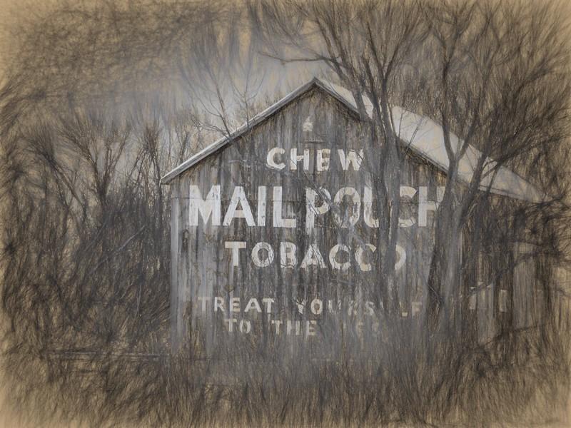 "Vickie Villavicencio,  The Mailpouch Barn""   11x14 framed print,  $75,  513 379-3404,  vickievilla@cinci.rr.com"