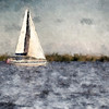 Nancy M Germer, SAILBOAT, Digitally Painted Photo on Canvas, 11 x 14,  $135, 513-317-1646