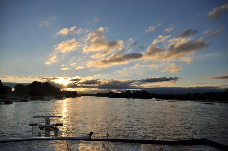 Sunset on Rhine River