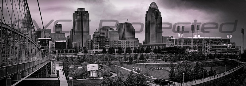 "Joe Chunko, ""All Star City"", Photo printed on metalized paper, 12 x 22, $120.00, jrchunko@gmail.com, 513 702 6976"