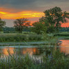 Constance Sanders, Platte River Sunset, digital print on metal, 12x24, $200, consanphotos@gmail.com, 855-391-3336