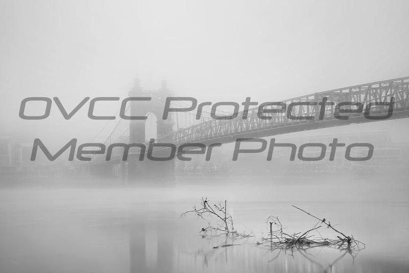 Jennifer Haralamos, Foggy Morning on the Ohio, BW Digital Print, 24x36, 350, jenharley1@aol.com, 513-407-6638 (will be custom framed/matted)