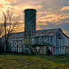 Joe Chunko, Setting Sun On The Old Barn, Photo Printed on Metallic Paper, 22x28, $$160.00, jrchunko@gmail.com 513 492 7379