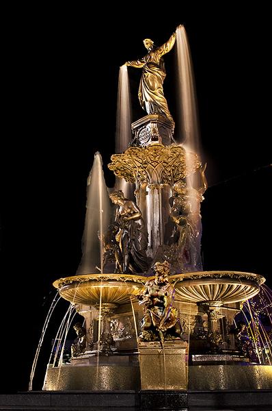 Tyler Davidson Fountain Aglow