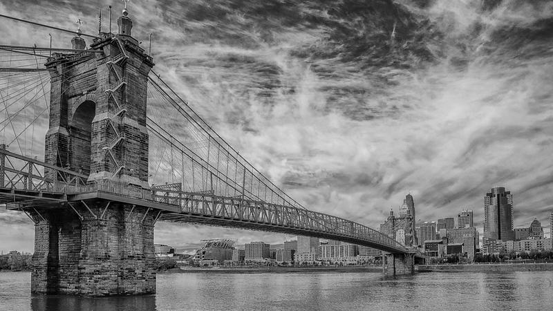 Rick Lingo, Clouds Over the Ohio, matted digital print, 16x20, $125, rlingo49@gmail.com, 513-451-1186