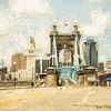 Roebling Bridge Impression
