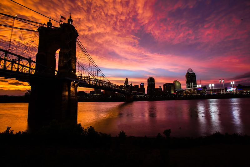 Reds Sky at Night, Framed Photo, 12 x 18, $200, Jim Hopewell, jim.hopewell@ymail.com, 317-590-2443