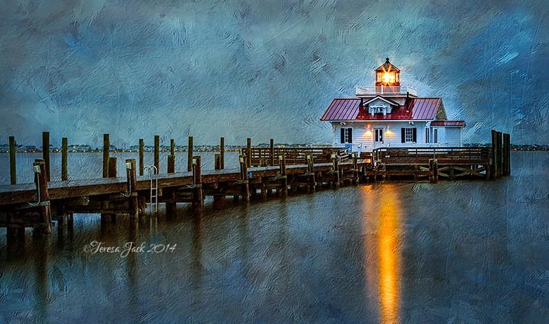 Teresa Jack, Roanoke Marshes Lighthouse, photography, 16x20 canvas, $155.00, teresajack@hotmail.com, 513-218-0754