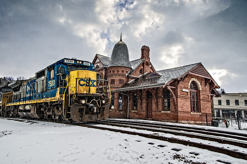 Pam DeCamp; Oakland Maryland Train Station; 16x20; Digitally Enhanced Photography on Metallic paper;  $275; pdcpics1982@yahoo.com; (740) 981-2207