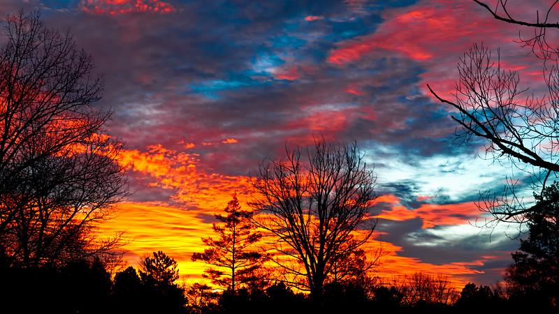Sunrise from backyard.