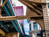 Elevated tracks in Chicago loop