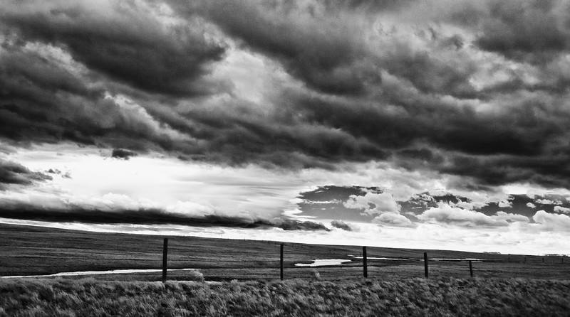 Wyoming Storm: Off I-25 near Douglas, Wyoming