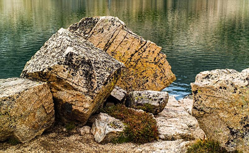 Rocks at Blue Lake: Hiking Mitchell Lake Trail to Blue Lake, Indian Peaks, Boulder County