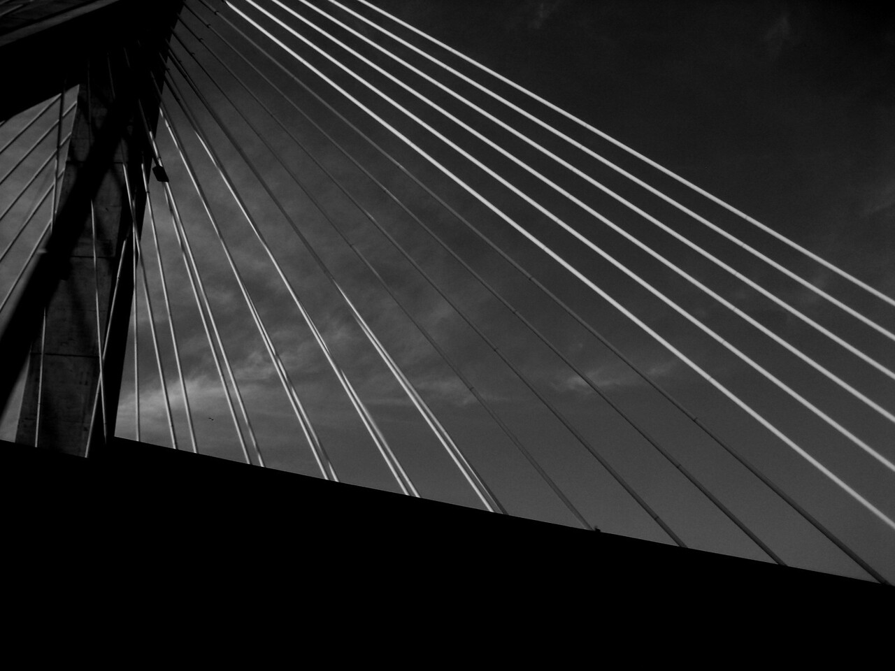 Bridge with darker sky.