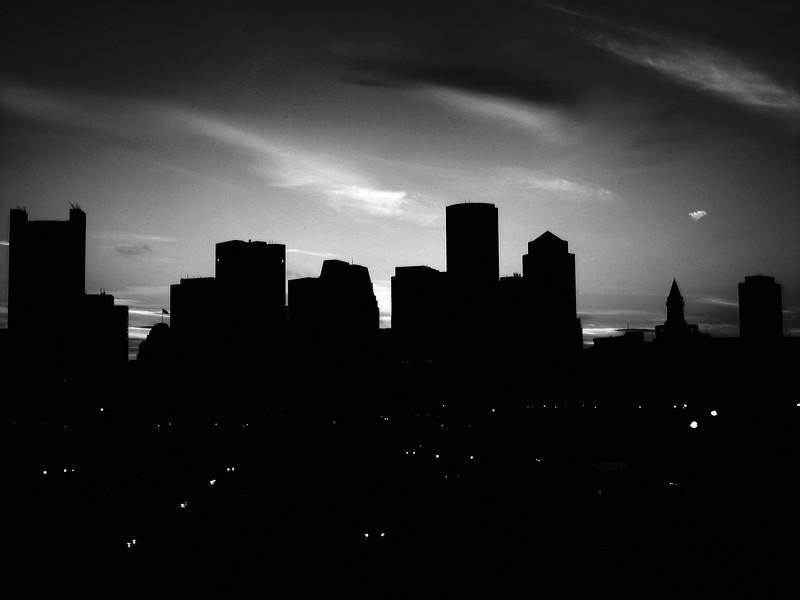 Boston silhouette.