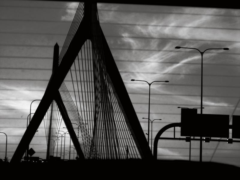 Rear window sunset.