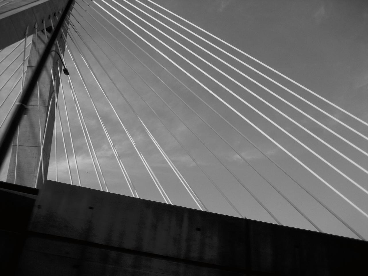Bridge with lighter sky.