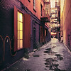 <h2>New York Alley - Lower East Side</h2> - By Vivienne Gucwa   When I was younger, I thought that New York City was teeming with alleys and narrow streets fueled by an over-active imagination and a predilection for film noir cityscapes. I wanted to believe that New York City harbored the best and brightest of in-between places and worn out spaces. The truth is that while New York City does have alleys, they are a pretty rare sight. Perhaps that is why I am so drawn to the ones that do exist.    ---