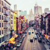 <h2>New York City - Streets - Chinatown - East Broadway</h2> - By Vivienne Gucwa<br><br>  There are streets that wrap themselves into my consciousness. They weave themselves into the fabric of every summer-drenched memory. <br><br>  Every color, every faded mark, every fire escape permeates thoughts that sleepwalk their way into dreams.<br><br>  ---<br><br>  This is East Broadway in Chinatown, New York City. It's a view that can be seen from the pedestrian walkway of the Manhattan Bridge. It's one of my favorite streets in lower Manhattan. I have taken countless images of it and every single image sings a slightly different song.<br><br>  ---<br><br>