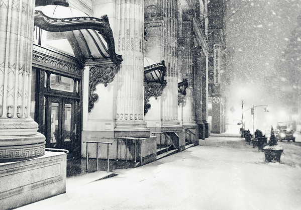 New York City Winter - Snow at Night