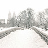 Central Park Winter - Snow on Bow Bridge - New York City