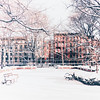 <h2>New York Winter - Tompkins Square Park - East Village</h2> - By Vivienne Gucwa  The clouds squeeze the last bit of light from the sun onto the city below.  It falls over trees and buildings: liquid promise spreading onto a landscape de-saturated by winter's icy breath.  In the wake of winter's gasping utterances, the sun uncovers the world that hides behind boisterous trees in summer.  And a smile spreads across the city's face for a moment: warm and golden hope spreading itself over the remains of the day.  ---