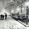 New York City - Winter - Snow Falls on 5th Avenue