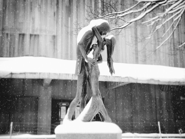 Central Park Winter -  Romeo and Juliet in the Snow - New York City