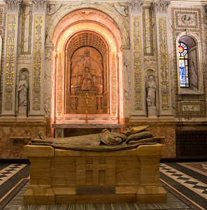 Bishop's mortuary chapel and the tomb of Mgr. Bourget