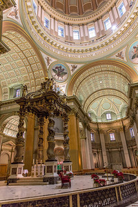 Baldachin over the high alter like the one  by Bernini in St. Peter's Basilica