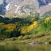 Reflections at Beautiful Maroon Bells Near Aspen Colorado