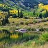 Lake Reflections at Maroon Bells Near Aspen Colorado