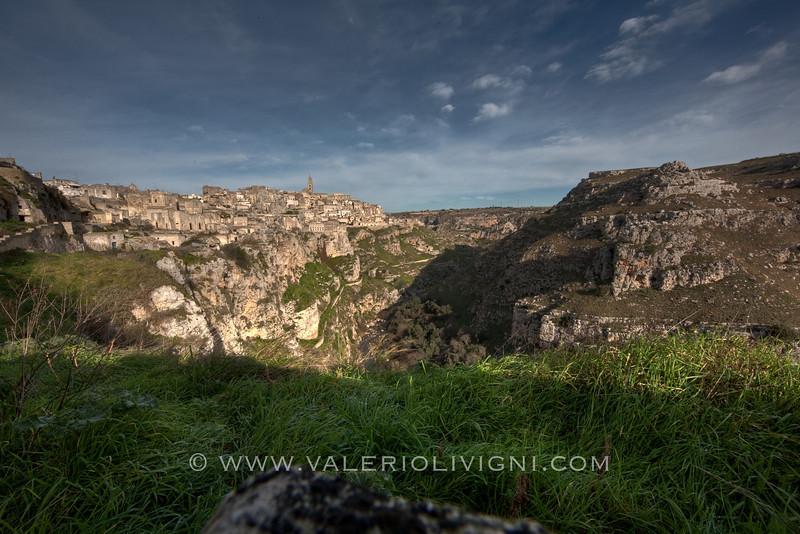 Matera from Gravina river