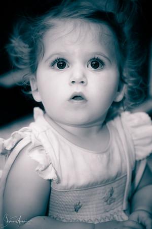 Beautiful young girl gazing