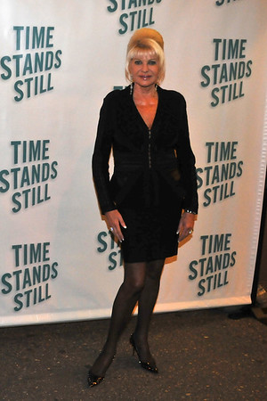 "10/07/10 -Ivana Trump attends opening night of ""Time Stands Still"" at the Cort Theatre on Broadway."